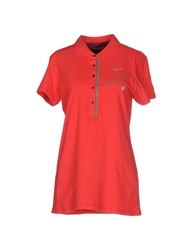 Aeronautica Militare Topwear Polo Shirts Women Red