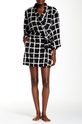 Josie Plaid Plush Robe Black