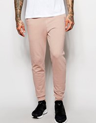 Asos Skinny Joggers In Light Pink Rose Dust