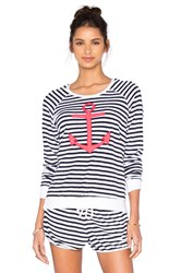 Sundry Anchor Sweatshirt Black And White