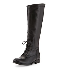 Frye Melissa Lace Up Riding Boot Black