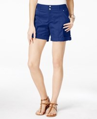 Inc International Concepts Cuffed Curvy Fit Twill Shorts Only At Macy's Goddess Blue