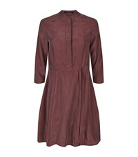 Allsaints Volta Perry Silk Dress Female Terracotta