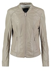 Oakwood Leather Jacket Grey