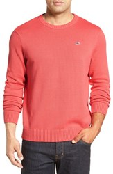 Vineyard Vines Men's 'Whale' Classic Fit Cotton Crewneck Sweater Jetty Red