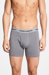 Under Armour Charged Cotton Boxer Briefs 3 Pack Steel Graphite Anthracite