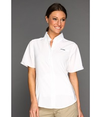 Columbia Tamiami Ii S S White Women's Short Sleeve Button Up
