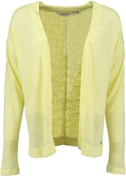 Garcia Open Front Cardigan Yellow