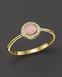 Ippolita 18K Lollipop Mini Ring In Pink Opal With Diamonds Green