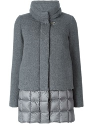 Fay Padded Trim Jacket Grey