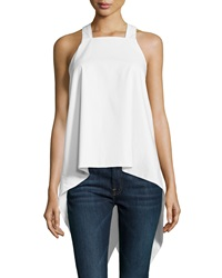 F.T.B By Fade To Blue Square Neck Waterfall Back Tank White