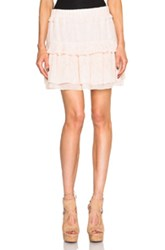 See By Chloe Ruffle Skirt In Pink Floral