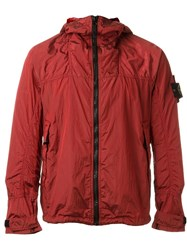 Stone Island Hooded Anorak Jacket Red