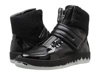 Just Cavalli Viper Horse Leather And Patent Leather Black