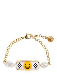 Shourouk Moodz Pearl Happy Face Bracelet