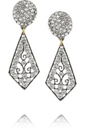 Lulu Frost Nightingale Silver Tone Bronze And Crystal Earrings