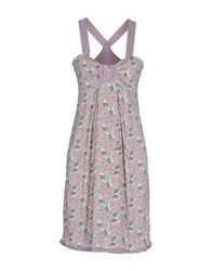 Alpha Massimo Rebecchi Dresses Knee Length Dresses Women Lilac