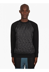 Christopher Raeburn Men's Black Quilted Raglan Sweatshirt