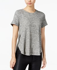 Bar Iii Ribbed High Low Top Only At Macy's Heather Grey Combo