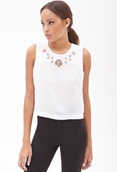 Forever 21 Embellished Sleeveless Top