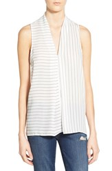 Women's Leith Stripe V Neck Sleeveless Top