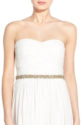 Women's Nestina Accessories 'Nadege' Crystal Bridal Sash Gold