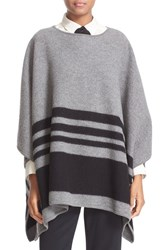 Kate Spade Women's New York Stripe Merino Wool Poncho