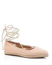 Michael Kors Cadence Lace Up Espadrille Flats Cipria