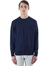 E.Tautz Fine Gauge Knit Crew Neck Sweater Navy