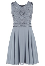 Lace And Beads Miami Cocktail Dress Party Dress Grey Blue Grey