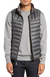 Tumi Men's Packable Down Vest Slate Grey