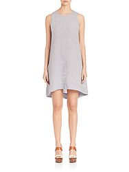 Eileen Fisher Yarn Dyed Flared Chambray Dress