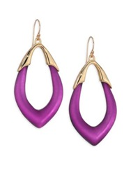Alexis Bittar Lucite Marquis Orbit Drop Earrings Gold Purple