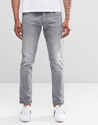 Replay Ronas Slim Jeans Mid Grey Slight Distressing Mid Grey