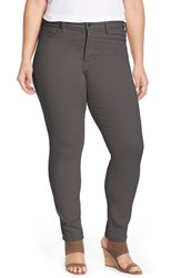 Nydj Plus Size Women's 'Alina' Colored Stretch Skinny Jeans Titanium