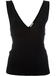 P.A.R.O.S.H. Panelled V Neck Tank Black