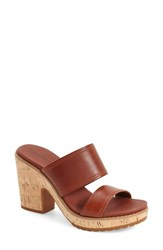 Women's Timberland 'Roslyn' Platform Sandal Brown Leather