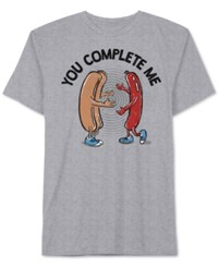 Jem Men's Hot Dog Graphic T Shirt Heather Grey