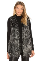 Bb Dakota Jack By Agneta Faux Fur Vest Gray