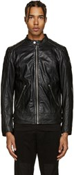 Diesel Black Leather L Marton Jacket