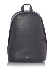 Paul Smith London Webbing Leather Backpack Black