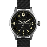 Filson Mackinaw Field Watch Black And Black Rubber