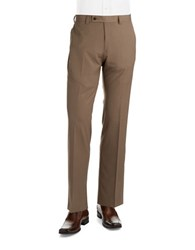 Calvin Klein Straight Leg Dress Pants Light Brown