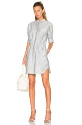 Atm Anthony Thomas Melillo Crinkle Shirt Dress In Stripes