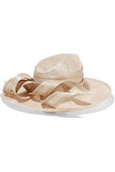 Philip Treacy Wide Brim Buntal Straw Hat Blush