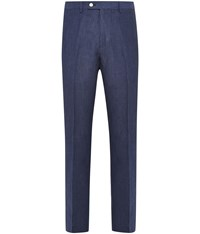 Austin Reed Slim Fit Casual Tailored Trousers Blue