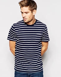 Jack Wills T Shirt With Stripes Whitenavy