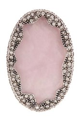 House Of Harlow Tanga Coast Rose Quartz Cocktail Ring Size 8 Red