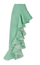 Viva Aviva Ruffled Ball Gown Skort Green