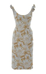 Brock Collection Daisy Pencil Dress Light Blue